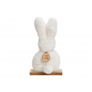 Display Plush rabbit on wooden base white (B.