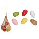 Uovo di Pasqua in legno di mango colorato 6- volte