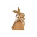 Großhandel Figuren & Skulpturen: Aufsteller Hase aus Mangoholz Braun (B/H/T) 8x15x2