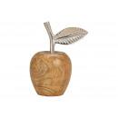 Mango wood apple, metal brown (W / H / D) 12x15x8c
