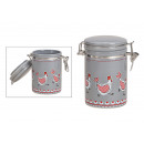 wholesale Home & Living: Storage jar with chicken decor, ceramic swing top