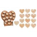 hurtownia Wszystko dla firmy: Serca drewniane 8x7cm Top 14 Deluxe 8cm, ...