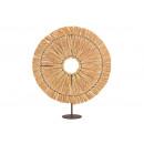 grossiste Décoration: Presentoir Soleil Raphia, métal naturel (L / H / P