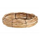 grossiste Décoration: Bol en bois, maille métallique naturelle (L / H /
