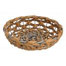 Cuenco, cesta de plástico marrón (An / Al / Pr)