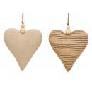 Coeur de suspension en textile beige 2- fois assor