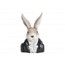 Testa di coniglio in polietilene nero (L / A / P)
