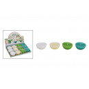 Floating candle white, green 4- times assorted , (