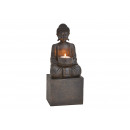 Tealight holder Buddha made of poly black (W / H /