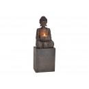 Porta tealight Buddha realizzato in poli nero (L /