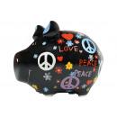 Salvadanaio KCG maialino, maiale hippie, di Ker