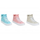 Shoe made of poly pink / white / light blue 3- tim