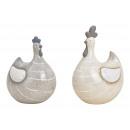 Polli in ceramica grigio / beige 2- volte assortit