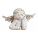 Testa d'angelo in poli bianco (L / A / P) 23x1