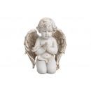 Klęczący anioł wykonany z poly white (S / W / D) 1