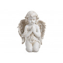 Angel kneeling made of poly white (W / H / D) 20x2