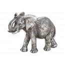 Elefante in poli argento (L / A / P) 16x12x6cm