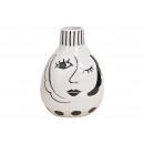 Vaso in ceramica donna nero / bianco (L / H / P) 1