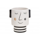 wholesale Shirts & Tops: Flower pot woman made of ceramic black / white (W