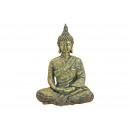 Buddha seduta in magnesia oro (L / A / P) 47x65x27