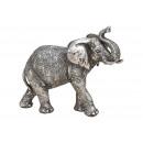 Elefante in poli argento (L / A / P) 21x17x7cm