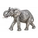 Elefante in poli argento (L / H / P) 28x19x10cm