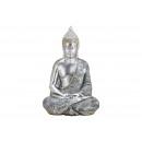 Buddha poli ezüstből (Szé / Ma / Mé) 23x36x18cm