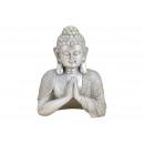 Buddha poli ezüstből (Szé / Ma / Mé) 19x24x10cm