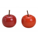hurtownia Mieszkanie & Dekoracje: Ceramiczne jabłko czerwone 2- razy mieszany , (Sze