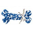 Pamut kötél kutyajáték - Bonnie Bone, kék