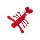 Kutya játék pamut kötélből - Hugo Hummer, piros,