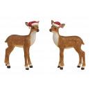Bambi ze świąteczną czapką z poli wielokolorowego