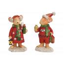 groothandel Woondecoratie: Wintermuis gemaakt van poly veelkleurig 2- ...