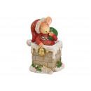 groothandel Woondecoratie: Wintermuis op schoorsteen gemaakt van poly ...