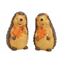 Brown clay hedgehog 2- times assorted , (W / H / D
