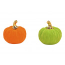 Pumpkin flocked from clay colored 2- times assorte