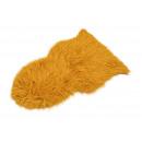Pelliccia ecologica gialla (L/A) 80x50 cm