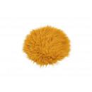 Coprisedile in ecopelliccia gialla Ø34cm