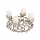 Corona dell'Avvento, portacandele in alluminio