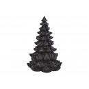 Albero di Natale in poly nero (L/A/P) 18x25x18cm