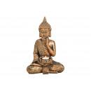 Buddha con portacandela in poly gold (L / A / P) 2
