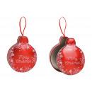 Scatola Buon Natale in metallo rosso (L/A/P) 11x14