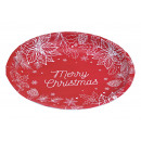 piatti Buon Natale in metallo rosso (L / A / P) 25