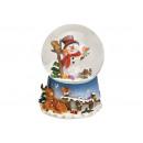 Carillon, palla di neve pupazzo di neve in poli, v