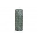 Gyertya 6,8x18x6,8cm viaszzöldből