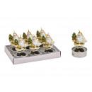 Set di candele Nikolaus 4x6x4cm in cera d'oro
