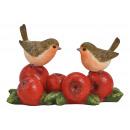 groothandel Woondecoratie: Vogel op appels gemaakt van poly gekleurd (B/H/D)