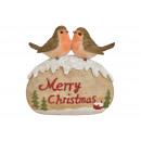 Uccello su pietra, Buon Natale da Poly Bunt (B /
