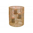 Candeliere per 3 candele in metallo dorato (L / H