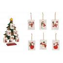 Decorazioni natalizie con pupazzo di neve in legno